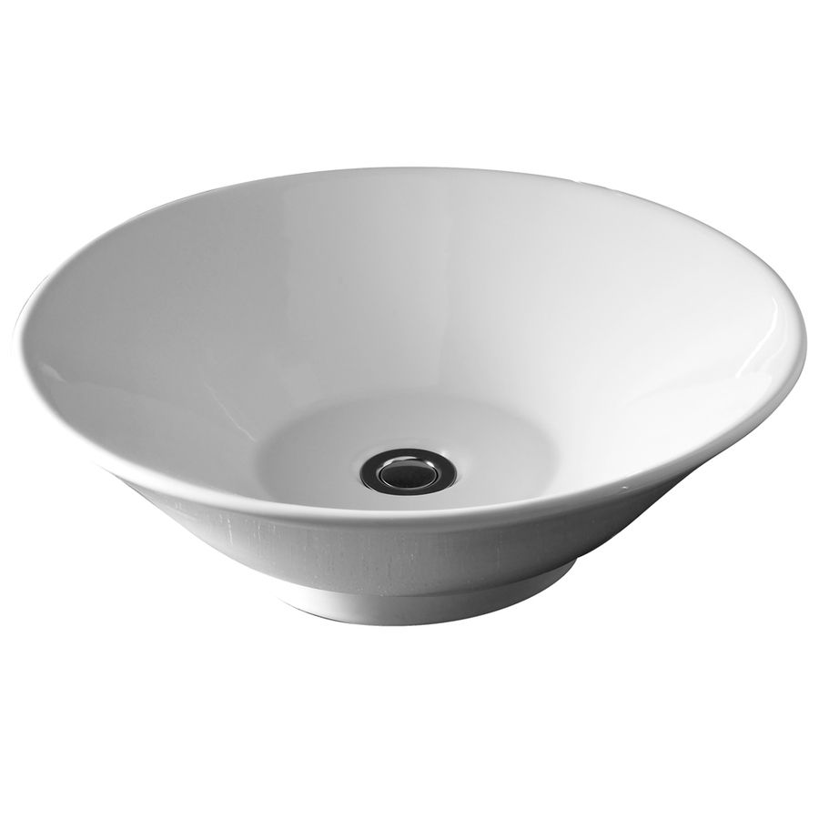 American Standard White Vessel Round Bathroom Sink 0514.000.020 ...