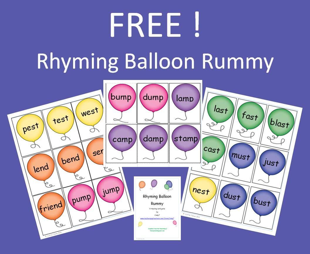 Rhyming Balloon Rummy