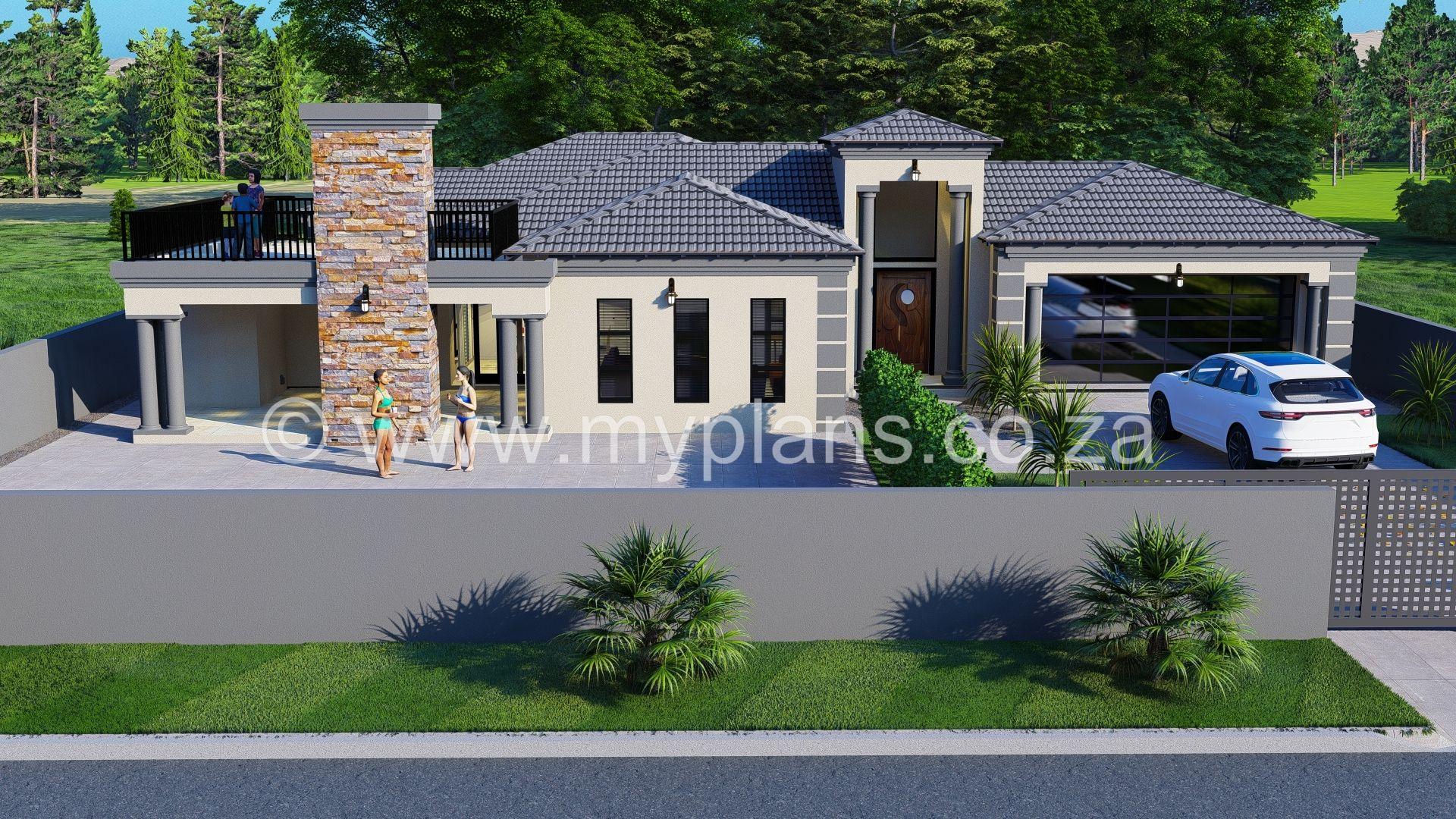 4 Bedroom House Plan Bla 021 10s 4 Bedroom House Plans Tuscan House Plans House Plans South Africa