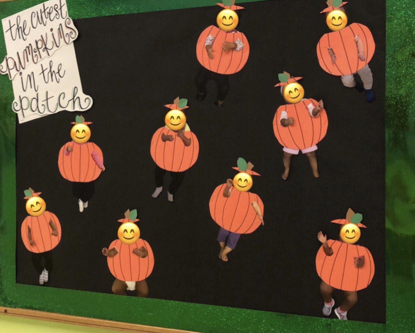 """Cutest Pumpkins in the Patch"" October 2018 Bulletin Board #pumpkinpatchbulletinboard"