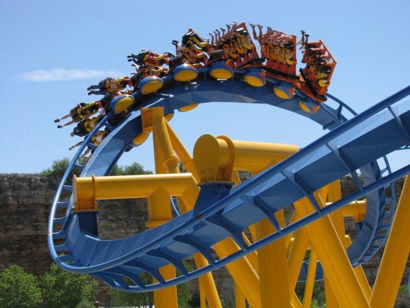 Goliath Six Flags Fiesta Texas San Antonio Texas Usa Roller Coaster Six Flags Thrill Ride