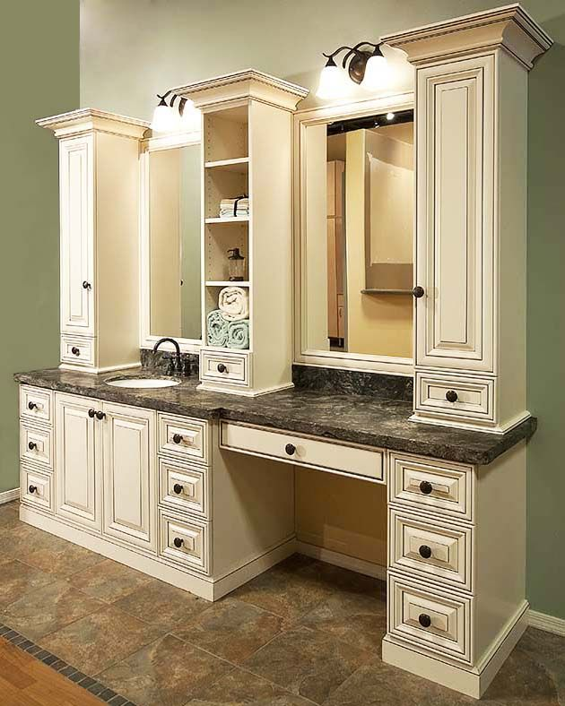 Rome Antique White Bathroom Vanity
