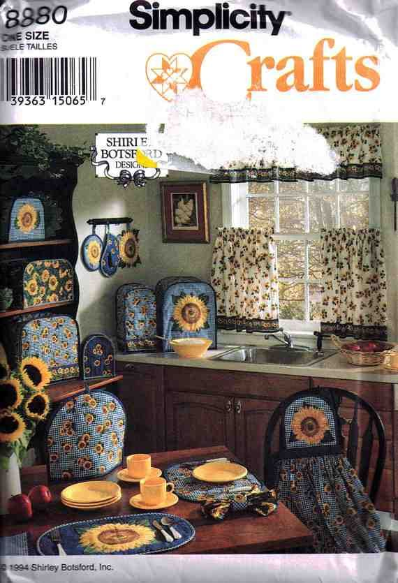 Simplicity Sewing Pattern 8880 Kitchen - Toaster Covers, Place Mats ...