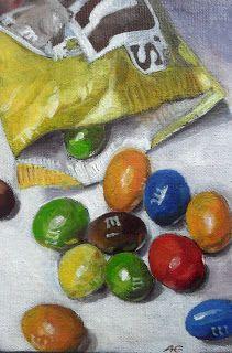 """""""M & M I"""" - oil on canvas board -  Anja Essler"""