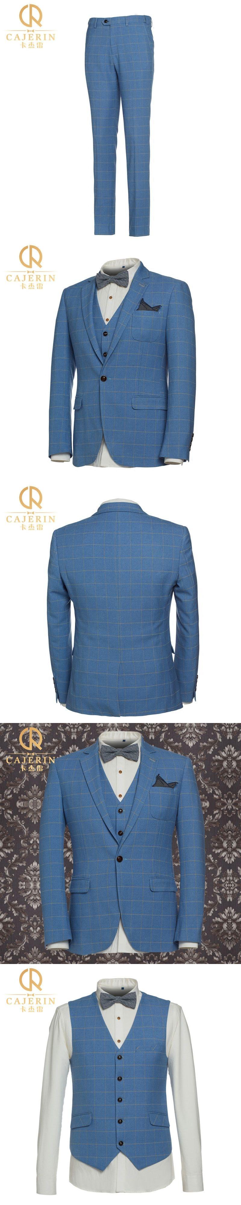 Pre Sale Wedding Suits For Men Royal Blue Tuxedo Slim Fit Plaid ...