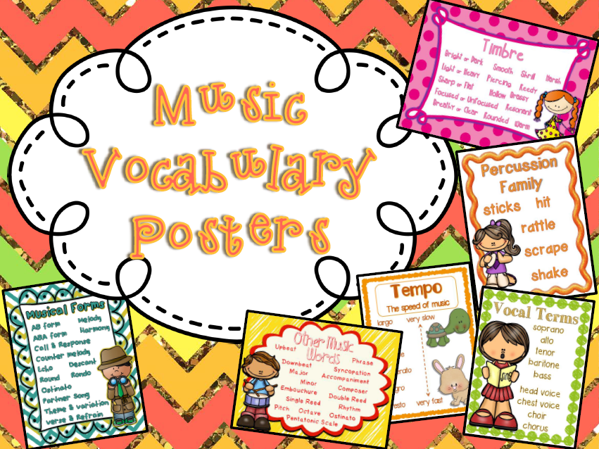 Music Vocabulary Posters Bundle Of All 11 Posters Music Symbols