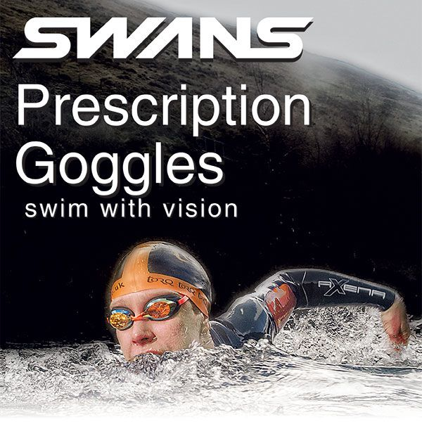 9fd6e74d001f Look good in the pool with a new choice of Swans SRX prescription goggles.  Now you can choose from black goggles with orange mirrored lenses or white  ...