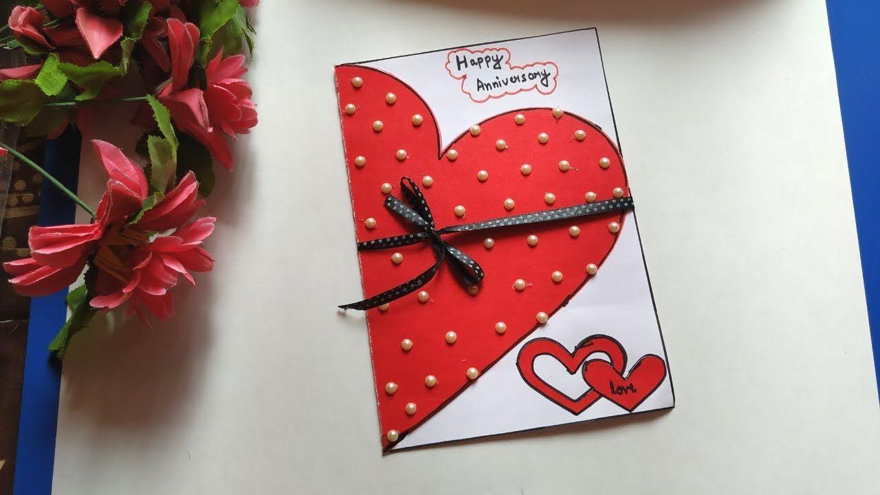 Anniversary Card Handmade Anniversary Card For Parents Handmade Valen In 2021 Anniversary Cards Handmade Anniversary Card For Parents Handmade Anniversary Gifts