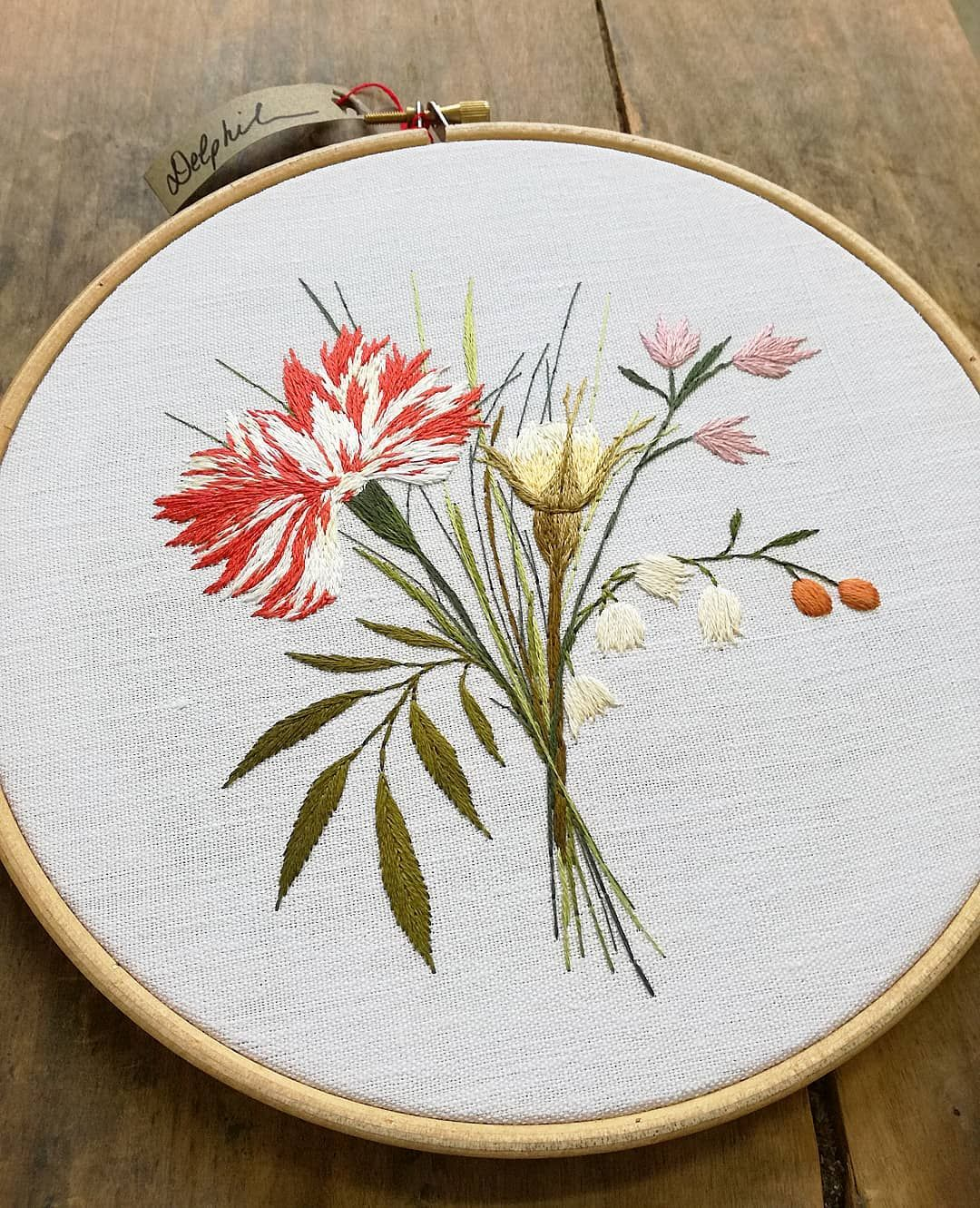 So skillful bouquet floral embroidery pinterest embroidery