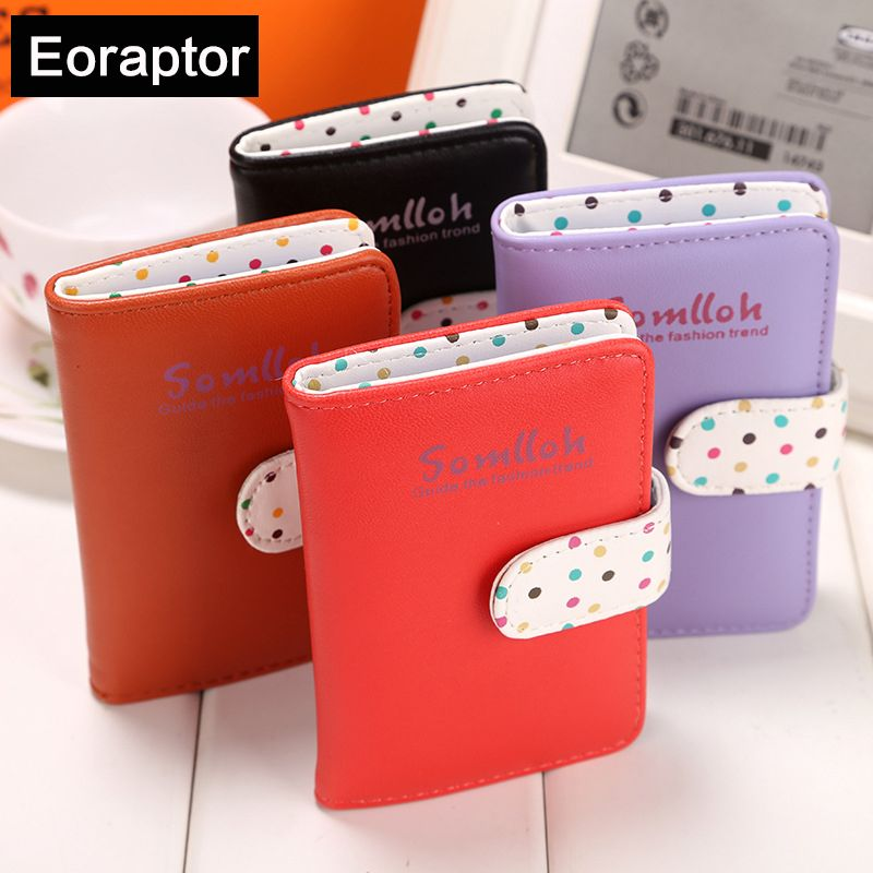 New 2017 cute strap buckle pu leather women credit card holder new 2017 cute strap buckle pu leather women credit card holder designer id card wallet colourmoves