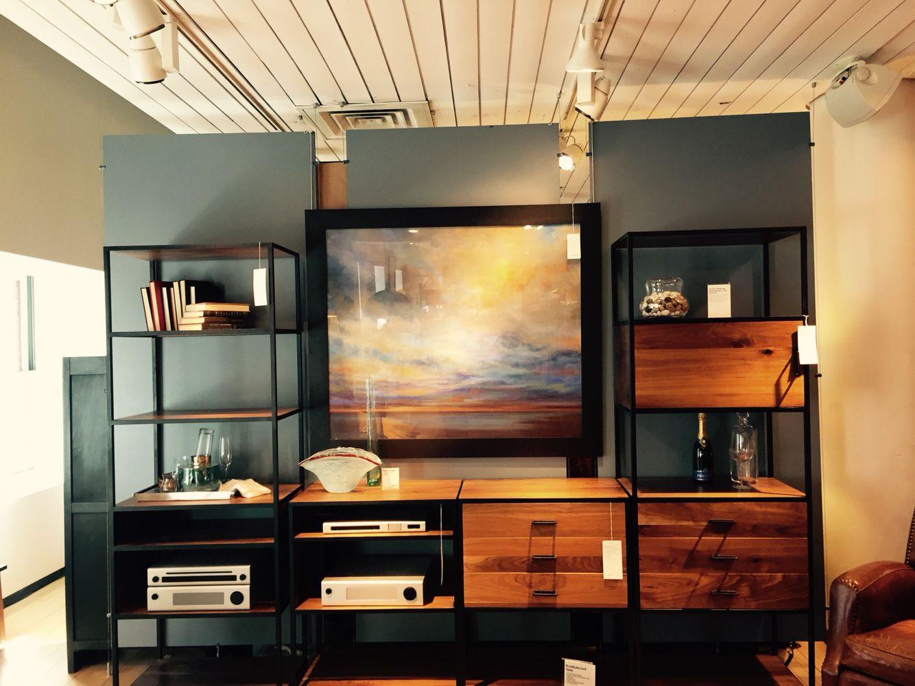 Mueble estantes hierro y madera decoración | Madera y hierro ...