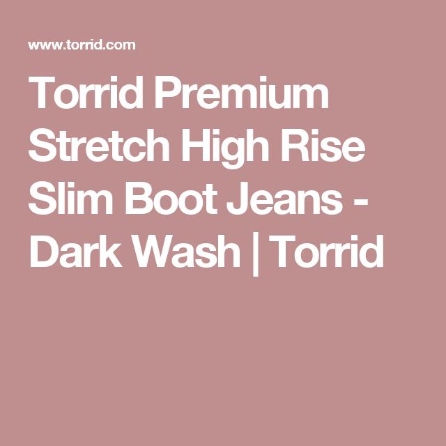Torrid Premium Stretch High Rise Slim Boot Jeans - Dark Wash | Torrid