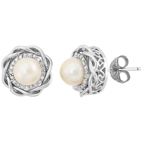 a90764991ebe8 Simply Vera Vera Wang Freshwater Cultured Pearl & Diamond Accent ...