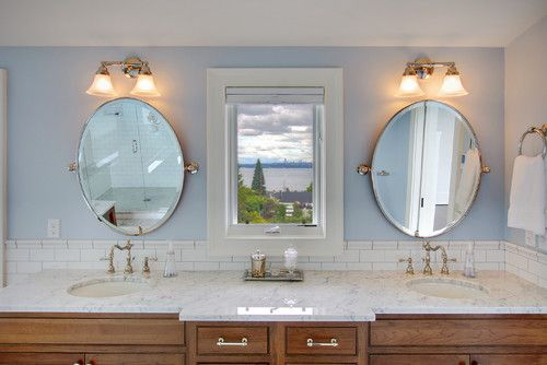 Kirkland Residence Master Bathroom traditional bathroom    Mirrors