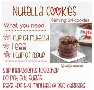 Very Easy Nutella Cookie Recipe Add Chocolate Chips And You Experience Nothing Less Than Heaven On Earth