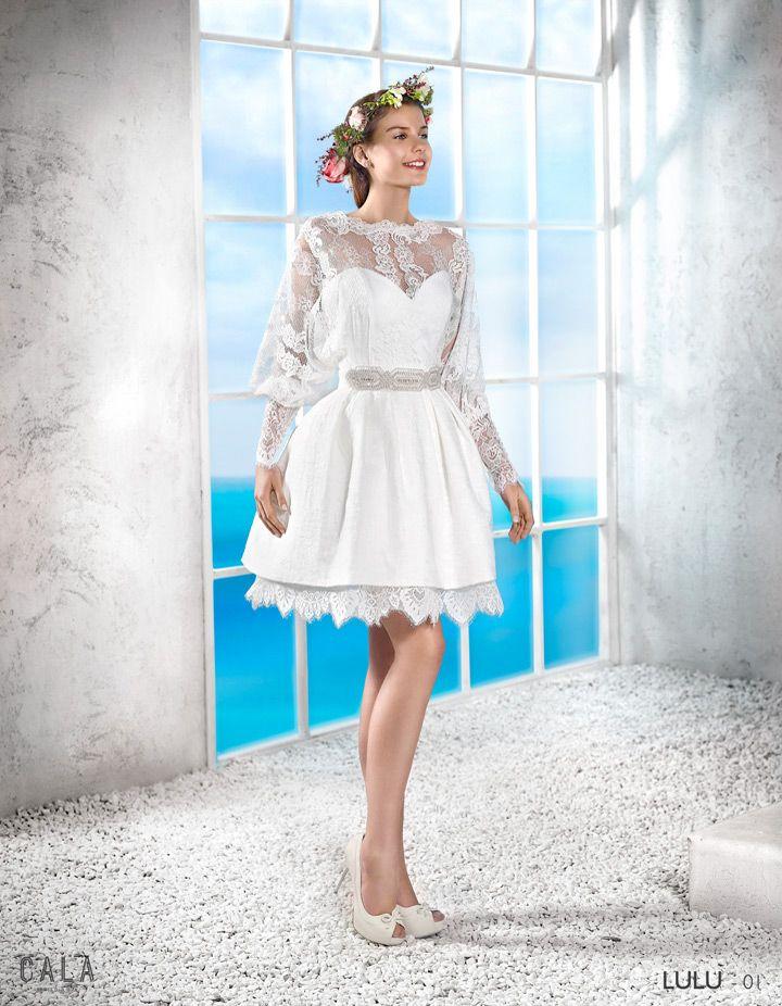 lulu | vestido de novia ibicenco 2016 - 1 | novias de corto 2016
