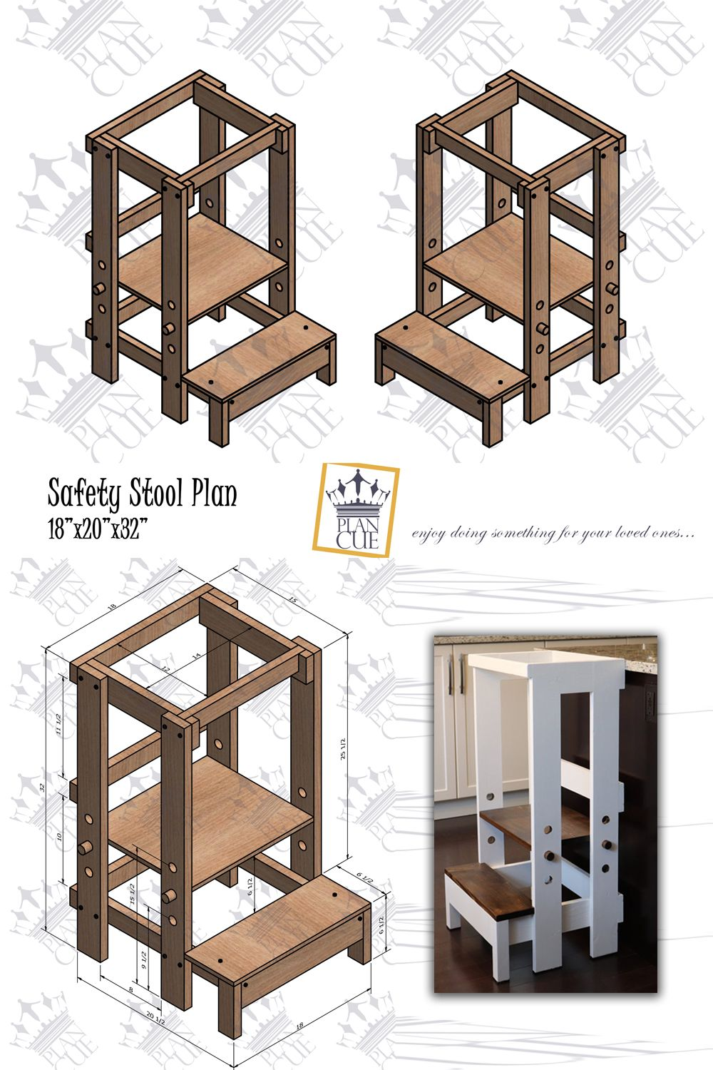 Toddler Step Stool Plan Montessori Learning Tower Wooden Helper Tower Diy Safety Stool Toddler Kitchen Stool Toddler Step Stool Toddler Kitchen