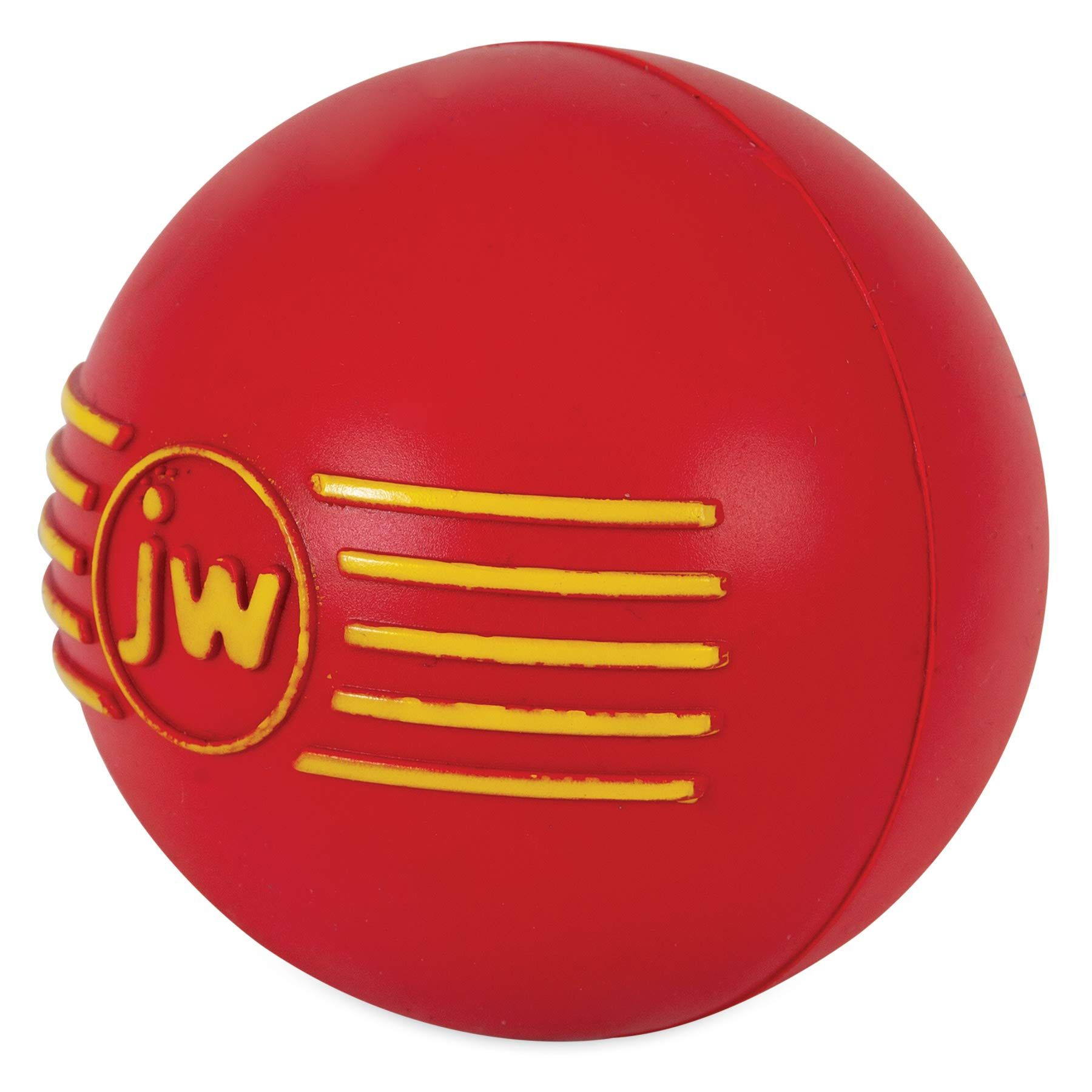 JW Pet Company iSqueak Ball Rubber Dog Toy, Colors Vary