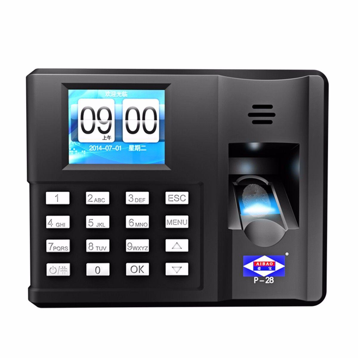Oficina huella digital asistencia sistema de control de acceso ...