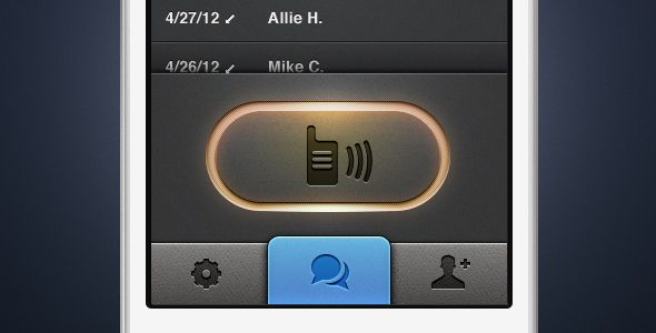 walkie talkie - ios app ui button