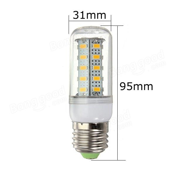 E27 LED Bulb 4.5W Warm White/White 36 SMD 5730 AC 220V Corn Light - US$2.99