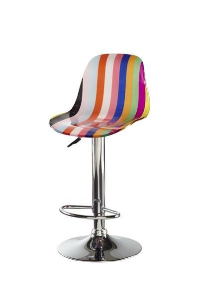 Powell Furniture Blue Orange Striped Bar Stool Acrylic Bar Stools Bar Stools Colorful Bar Stools