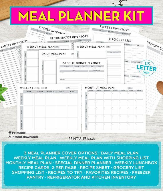 Meal Planner, Printable Planner, Meal Planning, Menu