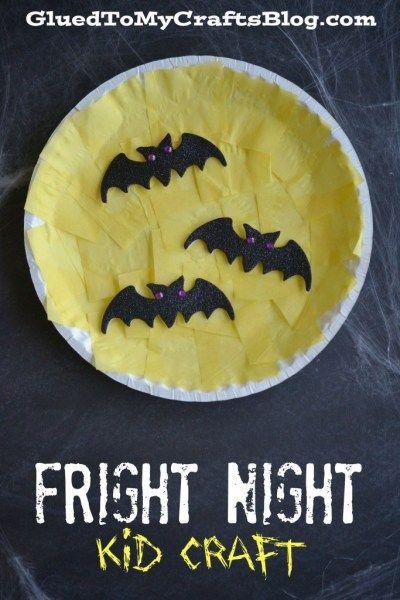 Paper Plate Fright Night – Halloween Kid Craft