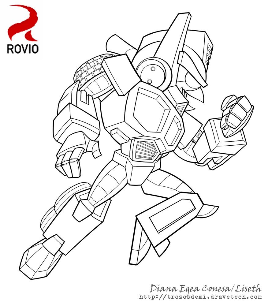Angry Birds Transformers Optimus By Liseth Transformers Coloring