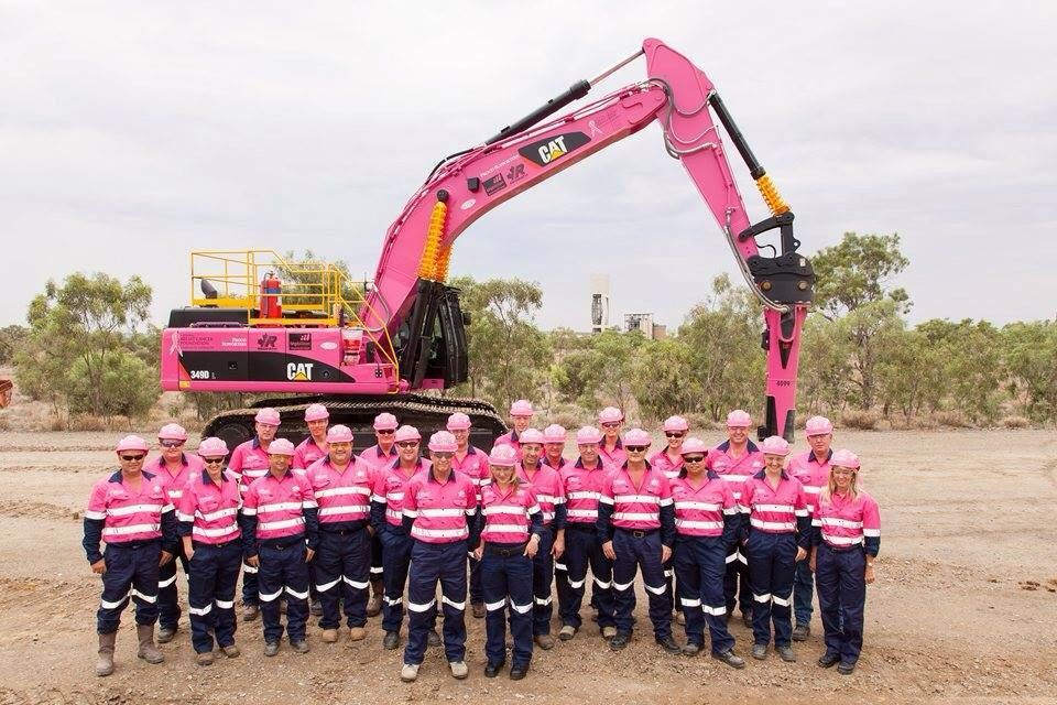 CAT 349D - All in pink! #heavymachinery