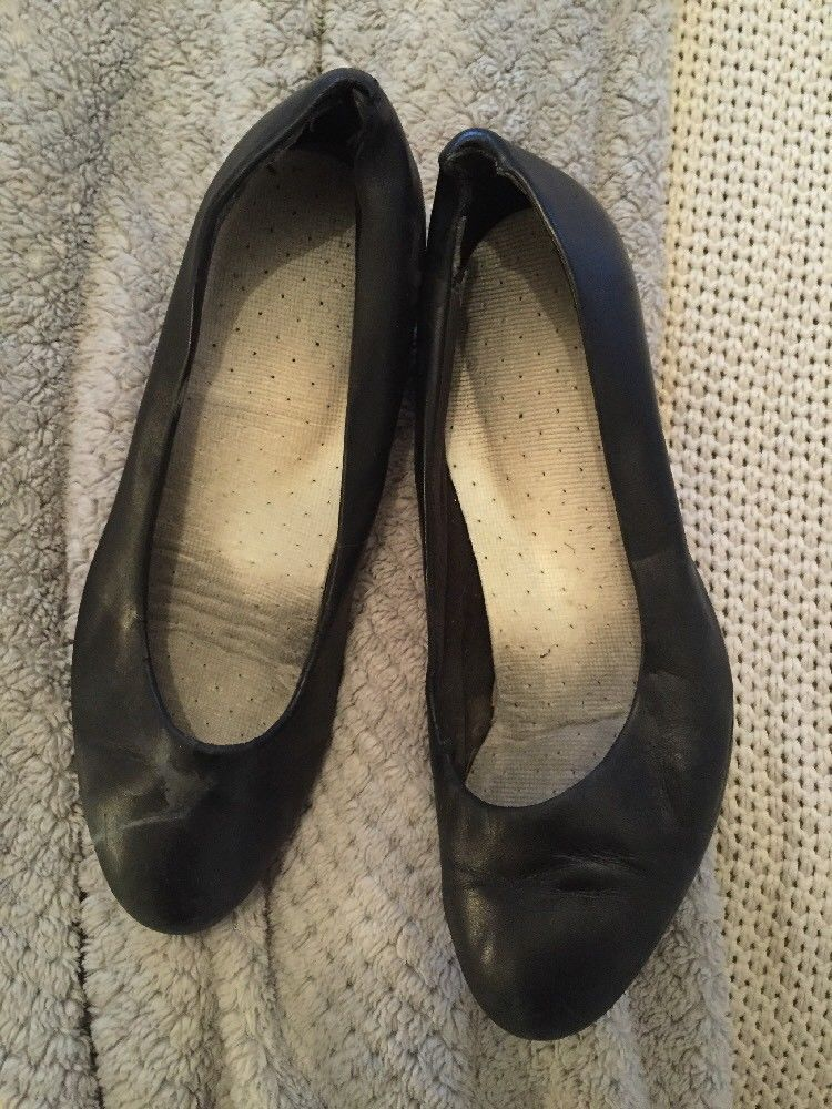 worn cabin crew shoes size 6 with used insoles shoes