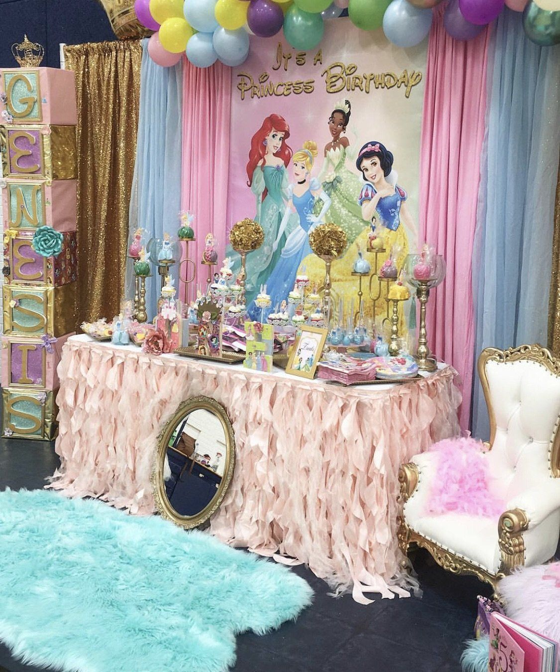 Disney Princess Party Backdrop Personalized Step Repeat