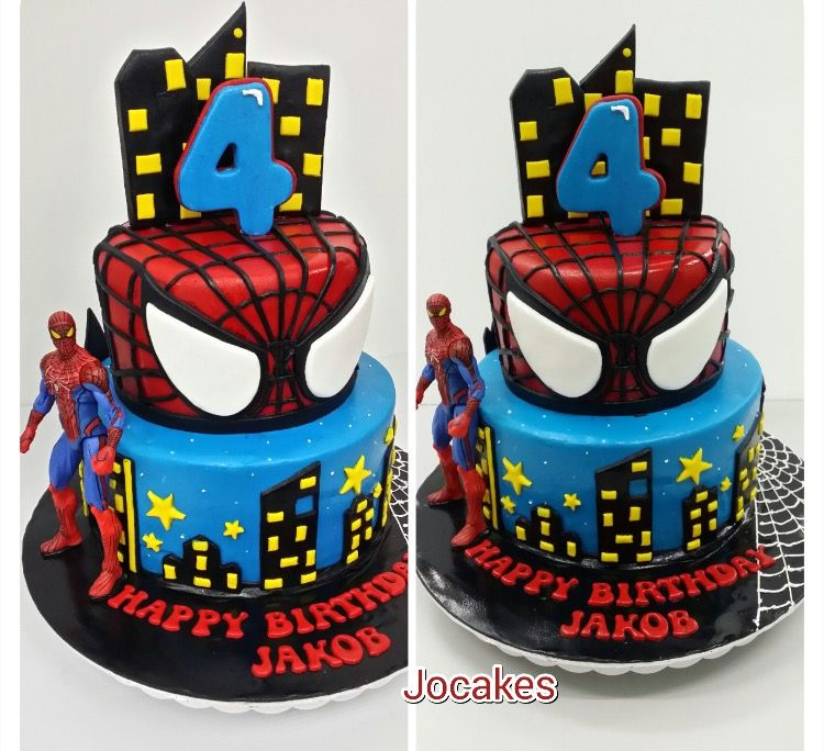 Pin By Love2bake By Dawn And Chris On Spiderman Cake Ideas