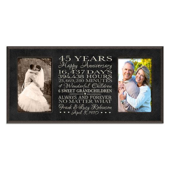 Personalized 45th Anniversary Gift For By DaySpringMilestones