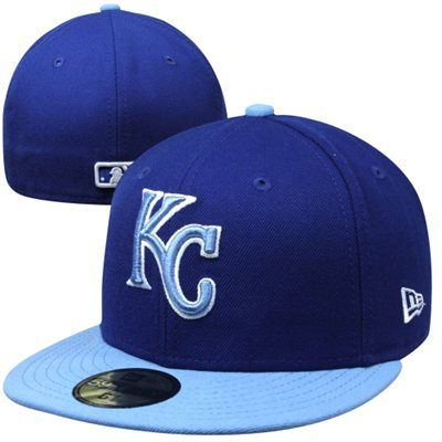 new product d257d fbe62 New Era Kansas City Royals Two-Tone 59FIFTY Fitted Hat - Royal Blue Light  Blue