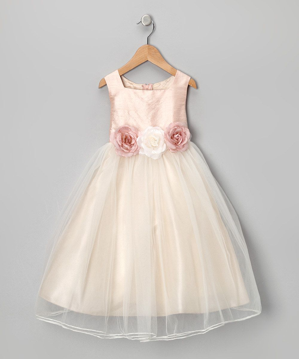 Dusty rose silk dress infant toddler u girls by kidus dream