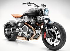 Confederate x132 Hellcat Speedster I like the use of leather, how it matches the hue of the exhaust pipe.