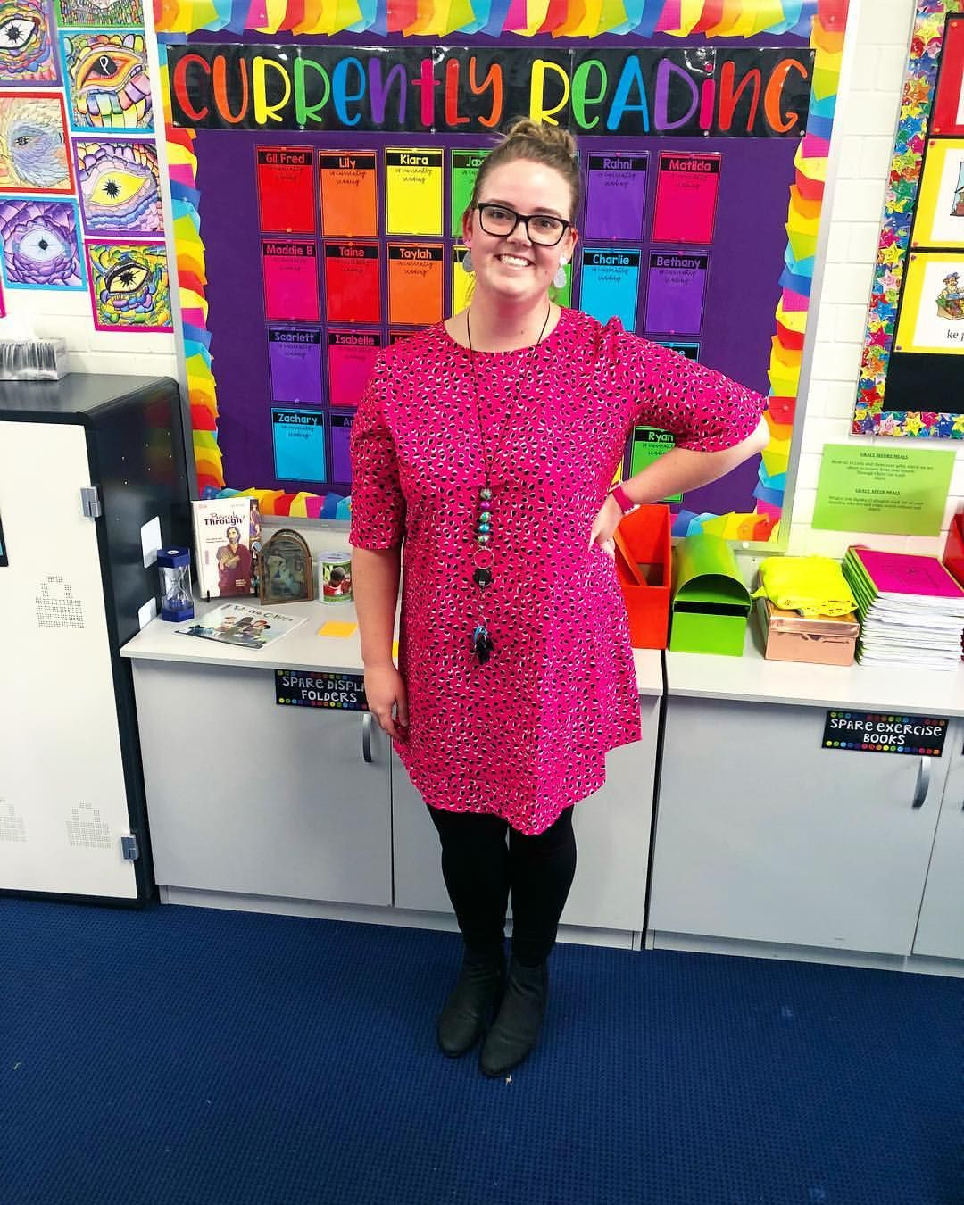 """c68049c8129 """"Please excuse the after school 'I'm so shattered' look on my face 😂 I  absolutely loved wearing my hot pink Luka dress from…"""""""