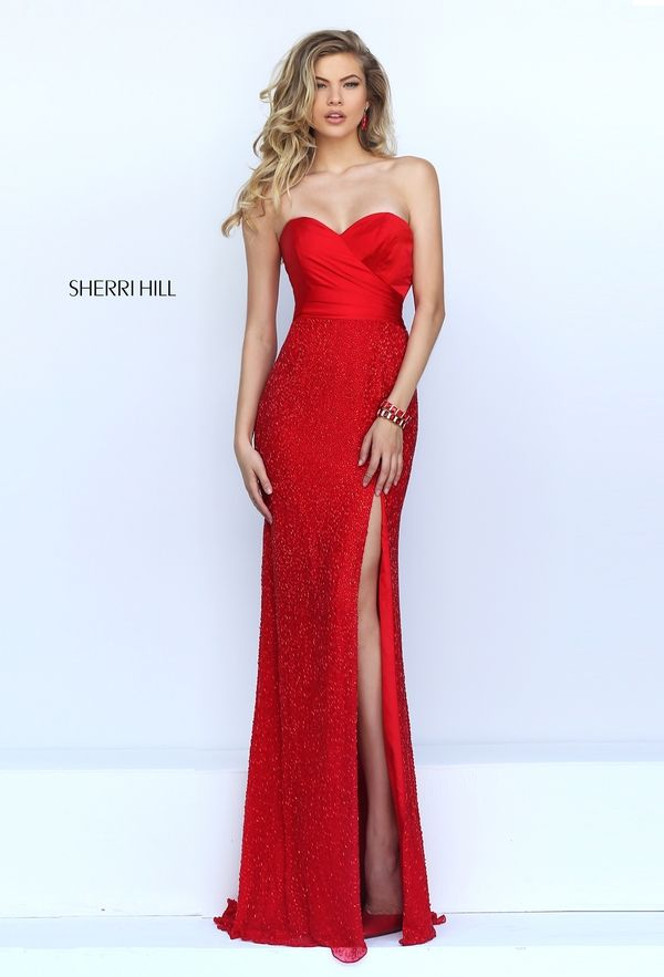 Sherri Hill 50046 In Red Or Black Sherri Hill Dresses Prom