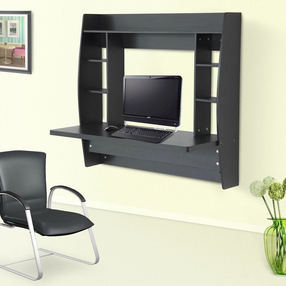 Floating Desk Wall Mounted Office Workstation Computer Table ...