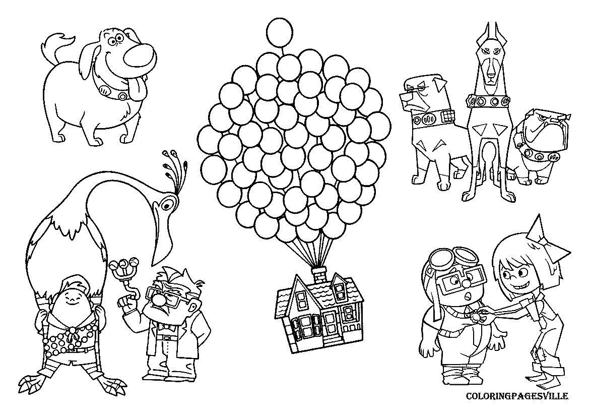 Disney Pixar Up Coloring Pages Coloring Pages Up Pixar Dog