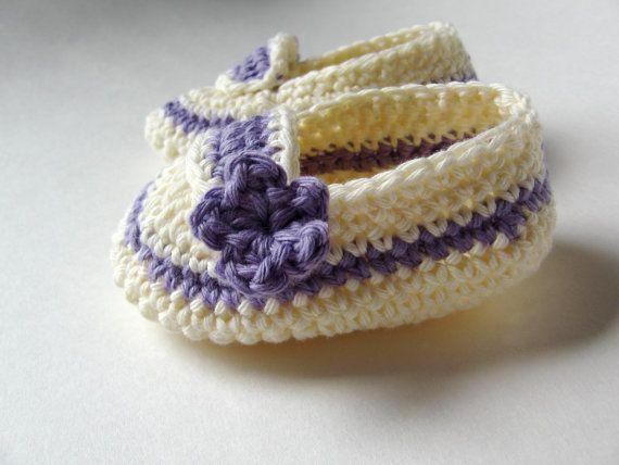 Crochet Baby Booties Girl's Summer Slippers by LemonLaneOrganics, $10.00