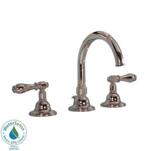 Martha Living Seal Harbor 8 In Widespread High Arc Bathroom Faucet Polished Nickel At The Home Depot Tablet