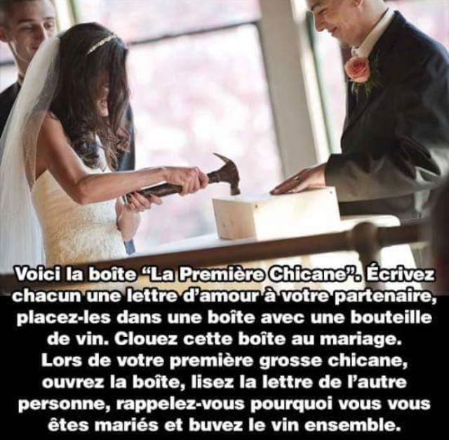 À faire au mariage! ☺️