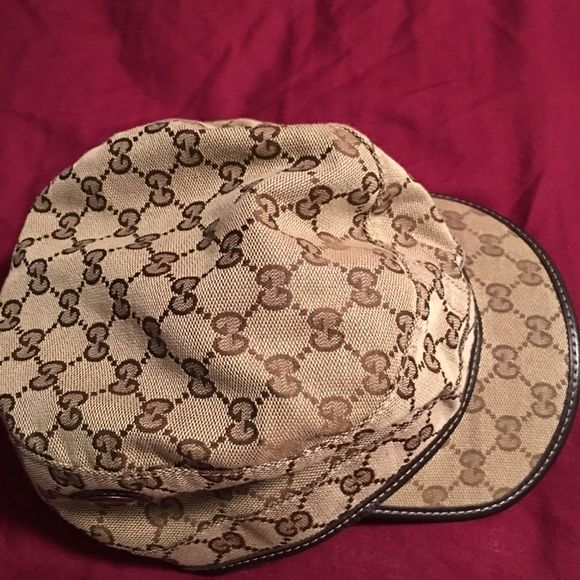 e85c1fb59e412 Gucci Canvas Military Hat authentic Gucci hatworn on numerous occasions but  still has a lot of lifesmoke free and pet free Gucci Accessories Hats