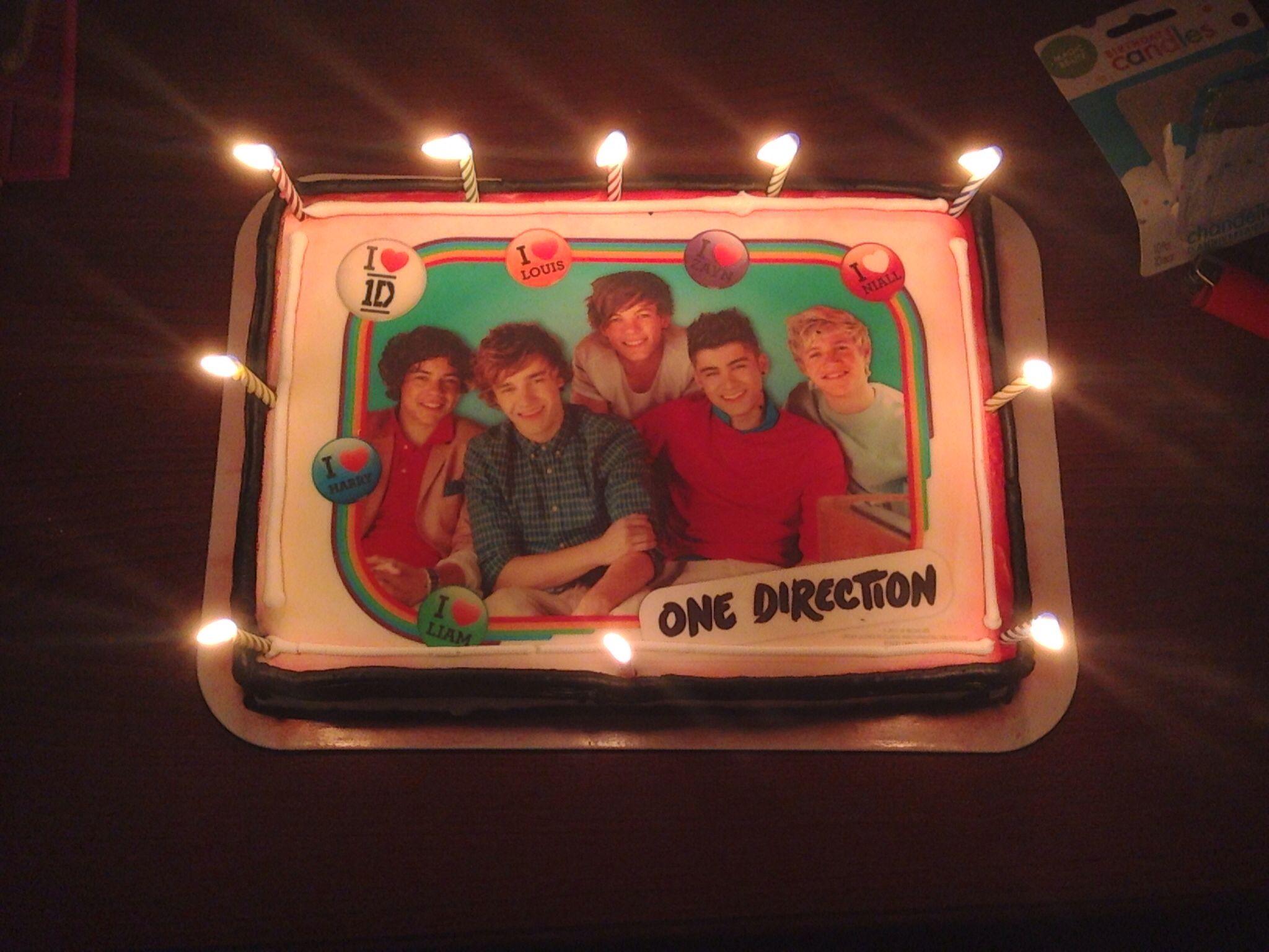 1d bday cake