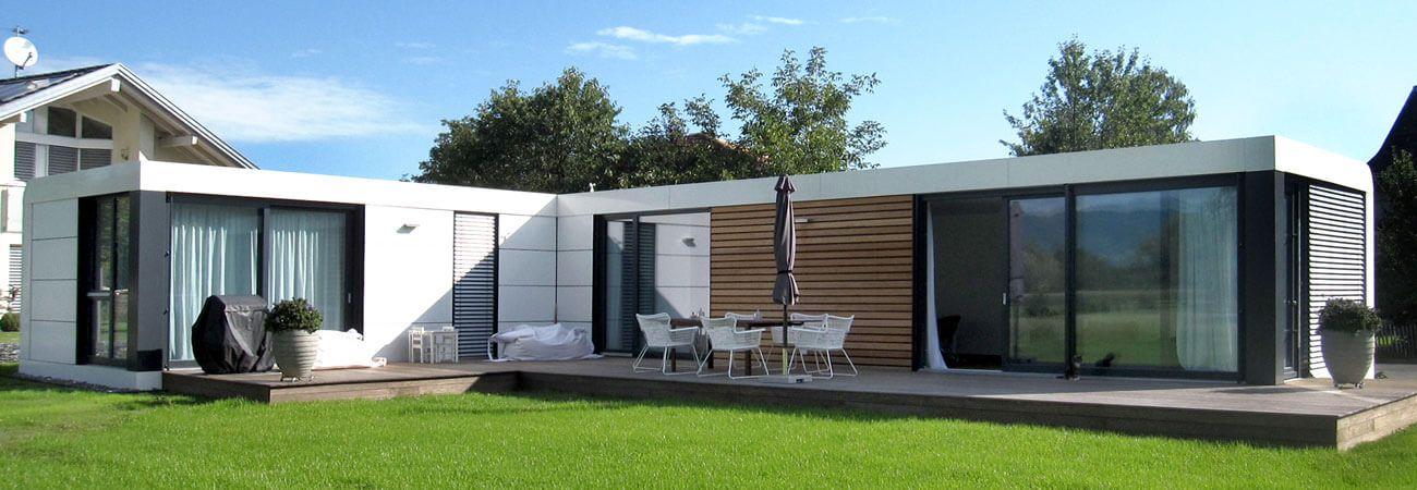 cubig fertighaus designhaus cabins house design. Black Bedroom Furniture Sets. Home Design Ideas