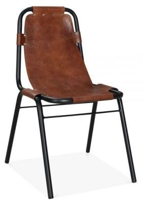 Magnificent Columbus Dining Chair Brown Leather Front Angle Bar Cjindustries Chair Design For Home Cjindustriesco