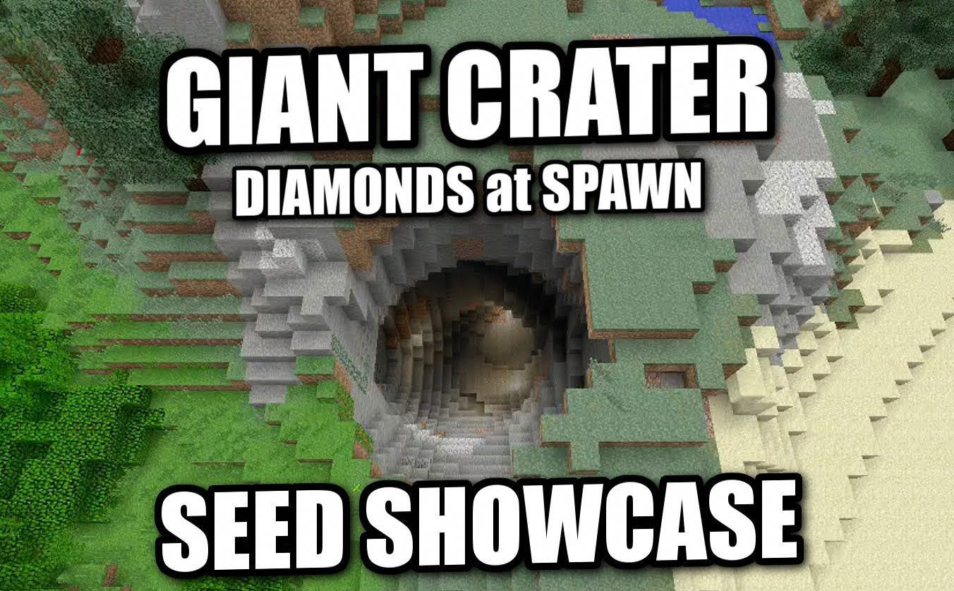 Minecraft PS12 - GIANT CRATER & DIAMONDS [ Seed Showcase ] XBOX