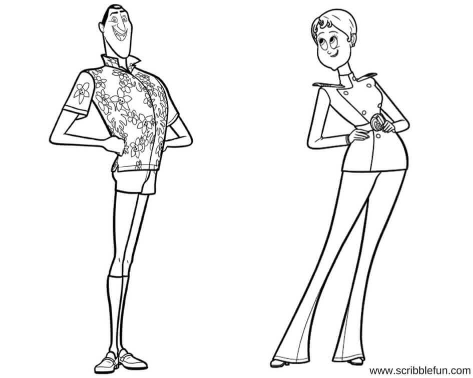 Hotel Transylvania 3 Pictures To Color Imaganationface Org